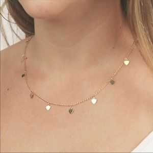 Heart Falling Gold Stars Necklace 💛